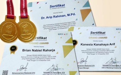 Grand Award BCS untuk prestasi Kenes dan Brian dalam National Economic Challenge Competition